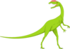 Green And Pink Long Neck Dinosaur Clip Art