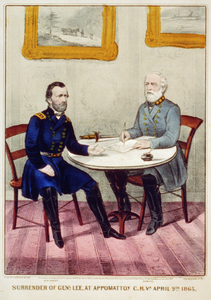 Surrender Of Genl. Lee, At Appomattox C.h. Va. April 9th. 1865 Image