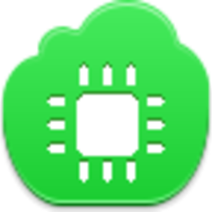Free Green Cloud Chip Image