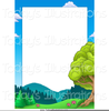 Trees And Mountains Clipart Image