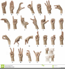 American Sign Language Alphabet Clipart Image