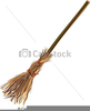 Witch With Broom Clipart Image