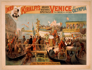 Imre Kiralfy S Grand Historic Spectacle, Venice, The Bride Of The Sea At Olympia Image