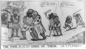 The Poor Blacks Going To Their Settlement Image