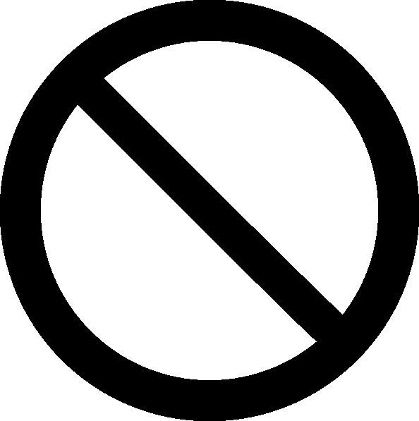 Prohibited Symbol Clip Art at Clker.com - vector clip art online ...