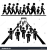 Black People Marching Clipart Image
