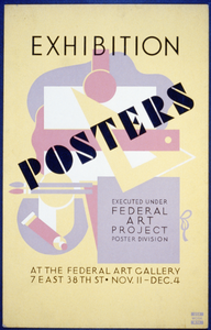 Posters Exhibition Executed Under Federal Art Project Poster Division. Image