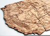 Topographic Relief Clipart Image