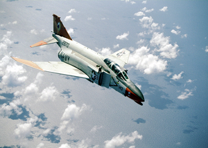 Navy F-4  Phantom  Conducting Weapons Tests Image
