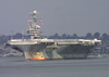 The Aircraft Carrier Uss Abraham Lincoln (cvn 72) Pulls Into San Diego Harbor. Image