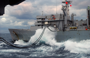 Usns Arctic (t-aoe 8) Transfers Fuel And Supplies To Uss George Washington (cvn 73) Image