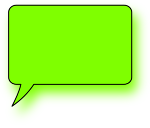 Green Lefthand Speech Bubble Clip Art