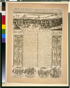 The Funeral Procession Of The Celebrated Mr. Jonathan Wild Thief-taker General Of Great Britain & Ireland; Together Wth A List Of Ye Principal Priggs, Hanging In Effegie, Who Were Taken By Him, And Convicted & Executed Upon His Information, To Which Is Annex D, His Lamentation In Newgate, &c. Image