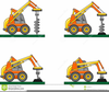 Heavy Construction Equipment Clipart Image