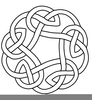 Celtic Knot Circle Clipart Image