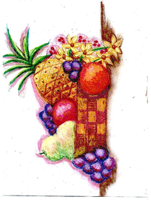 Still Life Fruit Basket Image