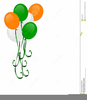 St Pats Day Balloons Clipart Image