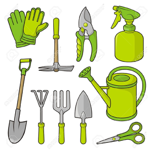 Clipart garden tools free images at vector for Gardening tools 7 letters