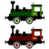 Steam Train Locomotive Stock Vector Image