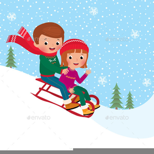animated christmas clipart people sledding image - Animated Christmas Clipart