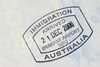 Ist Australian Immigration Arrival Passport Stamp Image