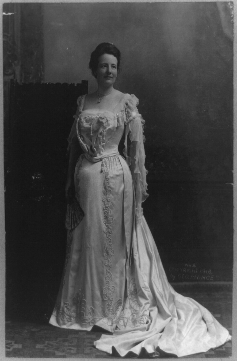 Mrs Edith Kermit Carow Roosevelt Full Length Portrait Standing Facing Front