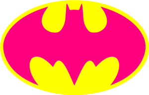 Hot Pink Batman Logo Clip Art