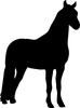 Horse Silhouette Clipart Image