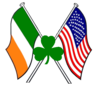 American Flag And Irish Shamrock Image