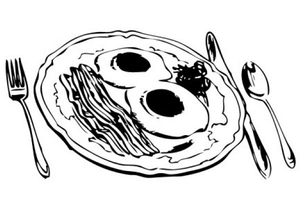 Shared By  Jacquelin 11-28-2010Meal Clipart Black And White