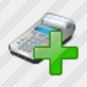 Icon Cash Register Add Image