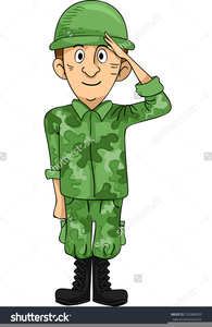 Army Salute Clipart Image