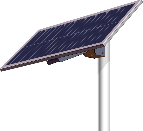 Solar Panel Pole Clip Art At Clker Com Vector Clip Art