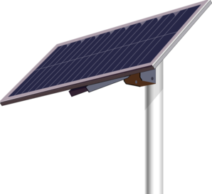 Solar Panel Pole Clip Art