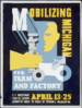 Mobilizing Michigan For Farm And Factory U.s. Employment Service Survey Conducted House To House By Veteran S Organizations. Clip Art