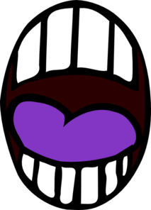 Mouth - Open - Purple Tounge Clip Art