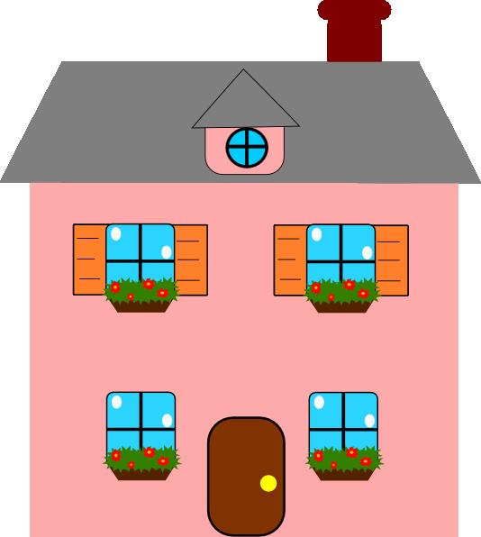 Totetude Pink House Clip Art At Clker Com Vector Clip