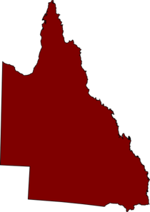 Qld Map - Maroon Clip Art