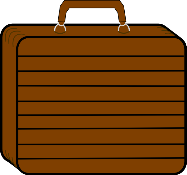 Chocolate Brown Suitcase Clip Art at Clker.com - vector clip art ...