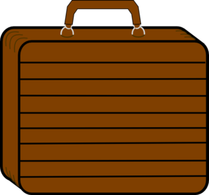 Chocolate Brown Suitcase Clip Art