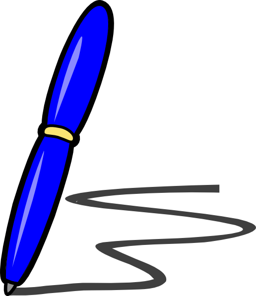 Blue Pen Clip Art at Clker.com - vector clip art online ...