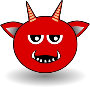 Red Devil Head Cartoon Clip Art