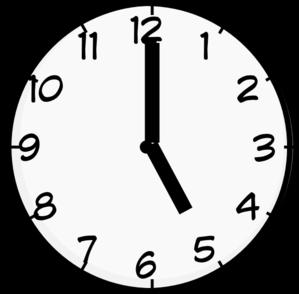 5 O Clock Clip Art at Clker.com - vector clip art online, royalty ...