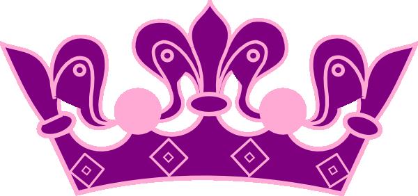 Princess Crown Pink Purple Clip Art at Clker.com - vector ...