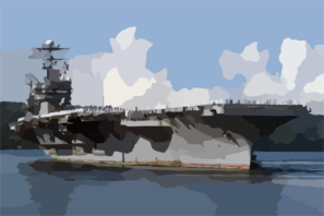 The Uss Abraham Lincoln (cvn 72) Approaches Pier Alpha Aboard Naval Station Everett After Returning From Nearly A 10-month Deployment In Support Of Operations Enduring Freedom And Iraqi Freedom Clip Art