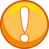 Orange Caution Icon Clip Art