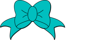 Teal Minnie Mouse Bow Clip Art