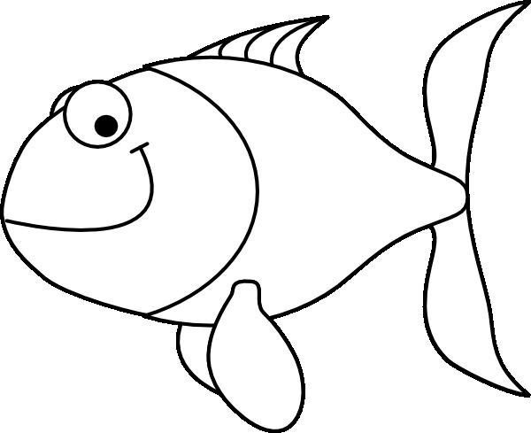 cartoon fish clipart black and white - photo #28