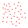 White Flower With Red Polka Dots Clip Art