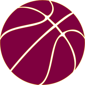 Gold Outline Basketball Clip Art